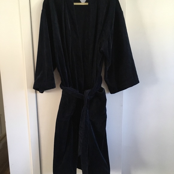 low priced provide large selection of classic chic Men's Tommy Hilfiger Navy Blue Bathrobe O/S NWOT